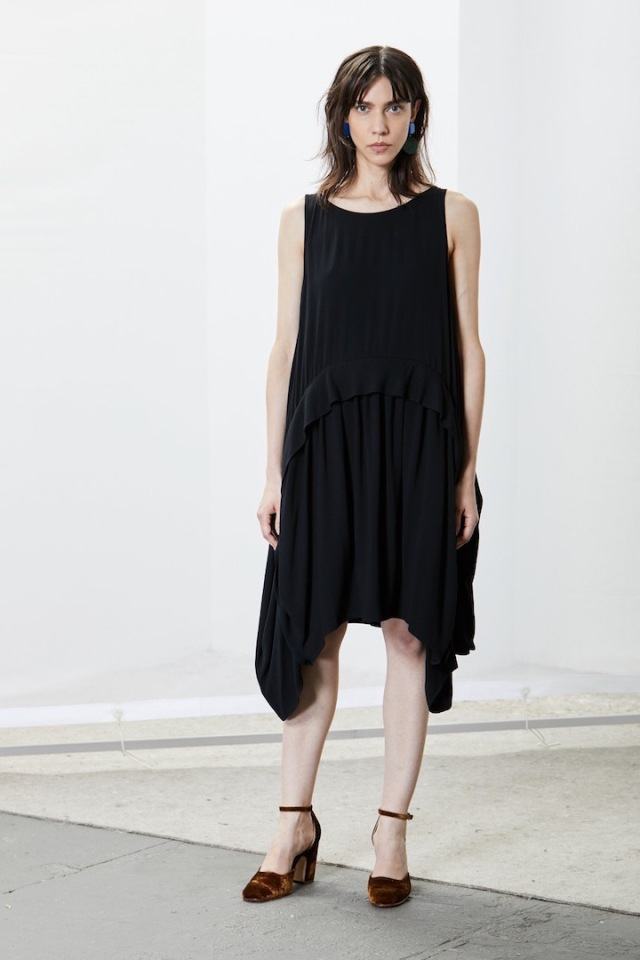 Rachel Comey's Popcorn dress in black rayon, 2017