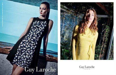 Guy Laroche Spring 2015 ad campaign photographed by Steve Hiett