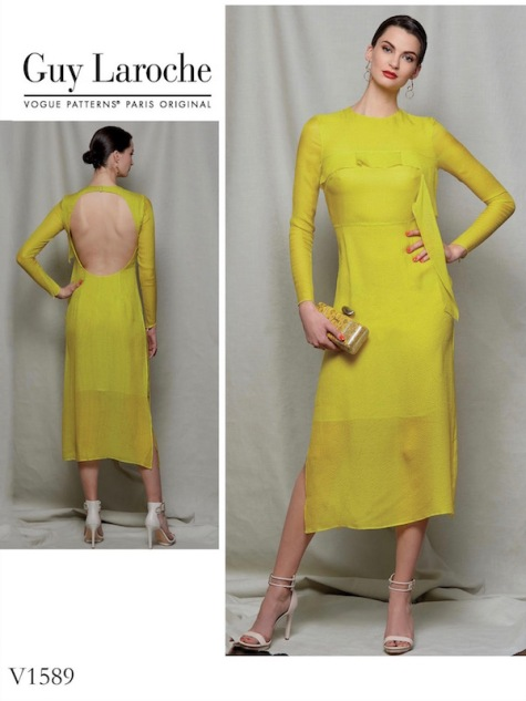 Guy Laroche dress pattern by Adam Andrascik Vogue 1589