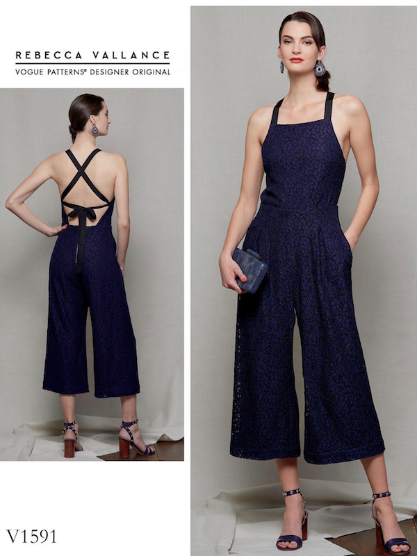 Rebecca Vallance Dolce Vita jumpsuit pattern Vogue 1591
