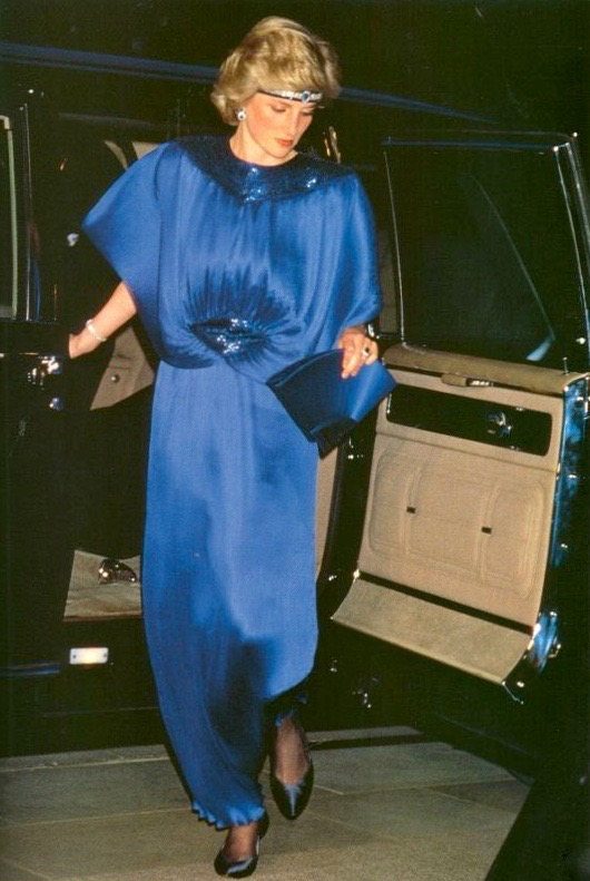 Diana, Princess of Wales, wears Yuki to a banquet hosted by Emperor Hirohito in May, 1986