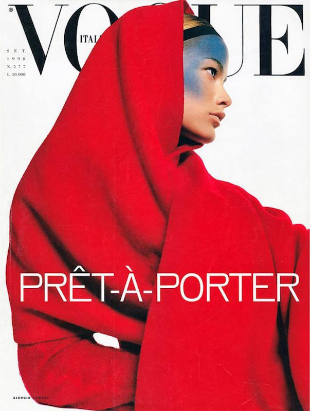 Murphy in Armani, Vogue Italia, September 1998. Photo: Steven Meisel