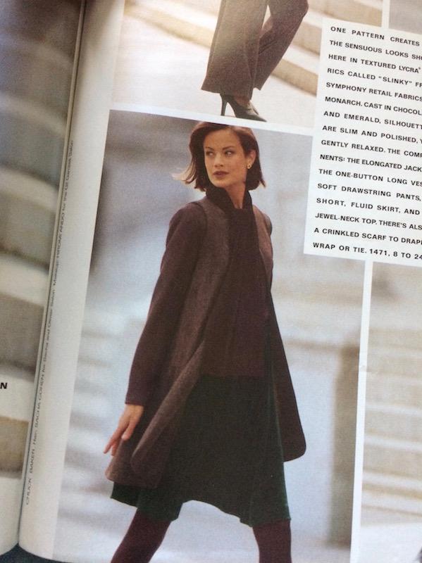 Vogue 1471 in Vogue Patterns, July/August 1994