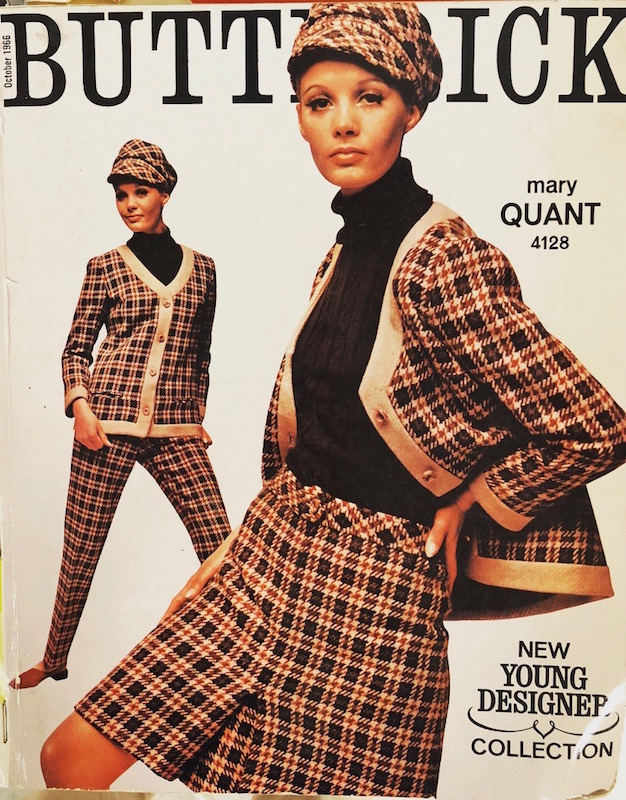 Maren Greve in Butterick 4128 by Mary Quant, 1966
