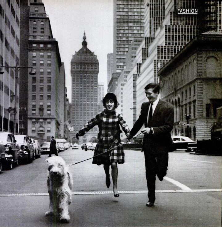 Mary Quant and Alexander Plunkett-Greene photographed on Park Avenue by Ken Heyman for Life magazine, 1960