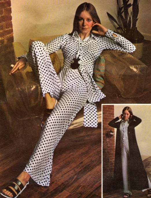 Mary Quant's Butterick 5857 jumpsuit in the Fall 1970 catalogue