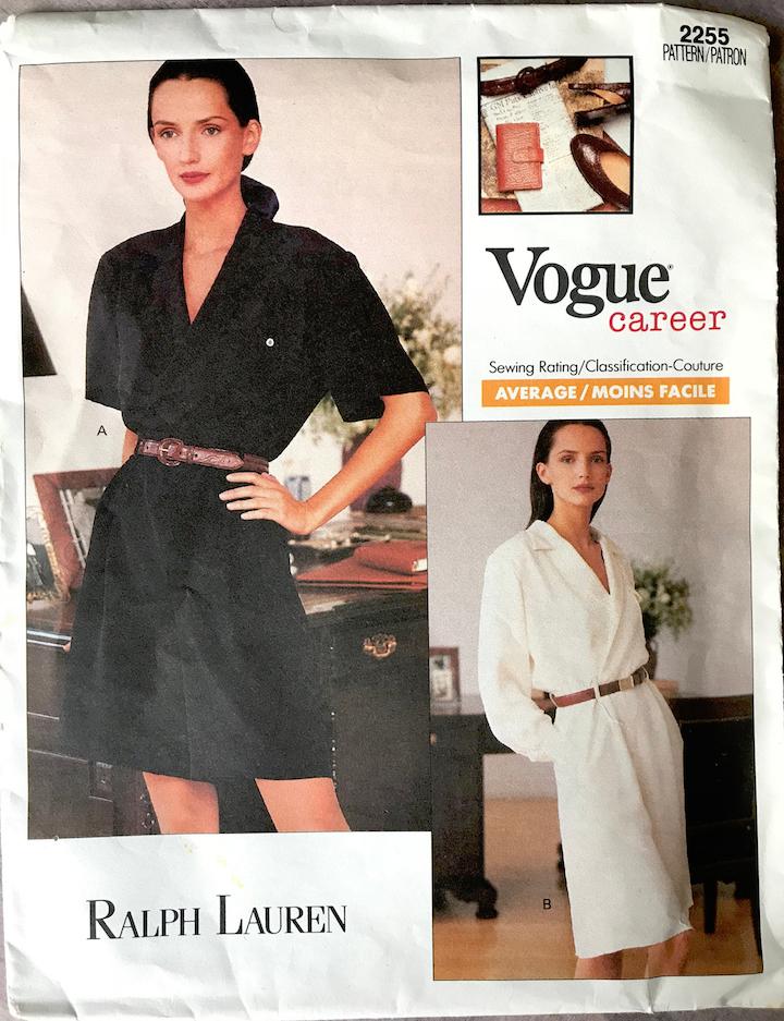 1980s Ralph Lauren career romper or dress pattern Vogue 2255 feat. Saffron Aldridge