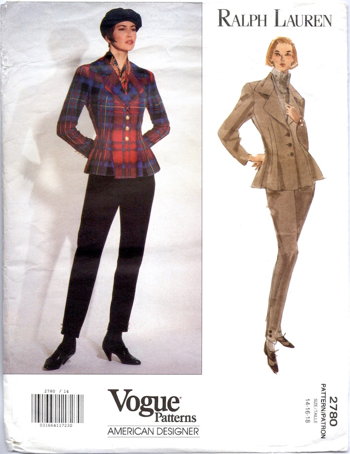 1990s Ralph Lauren pattern Vogue 2780