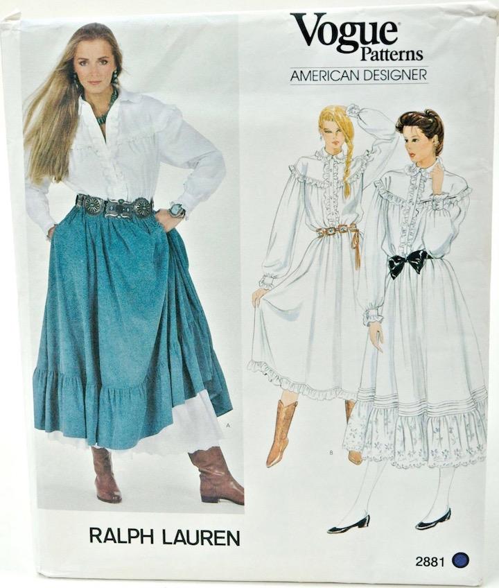 1981 Santa Fe Ralph Lauren dress pattern Vogue 2881