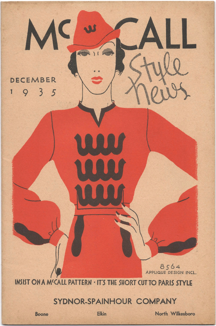 McCall Style News, December 1935.