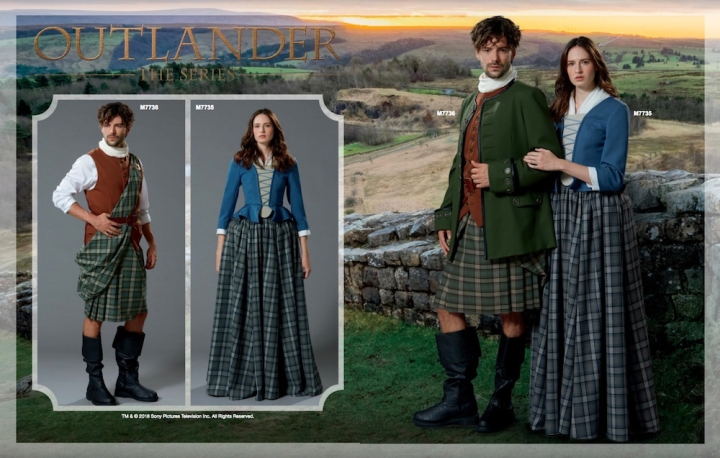 Outlander costumes M7736 and M7735 in McCall's Spring 2018 lookbook