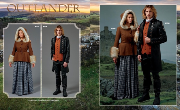 Outlander costumes M7792 and M7794 in McCall's Summer 2018 lookbook