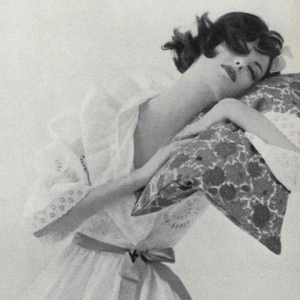 Dorothea McGowan in Vogue, May 1, 1960