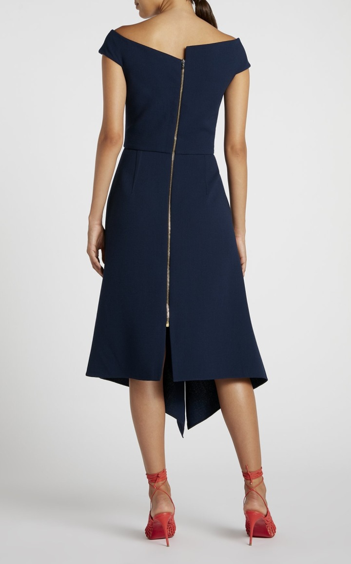 Back view of Roland Mouret's Barwick dress