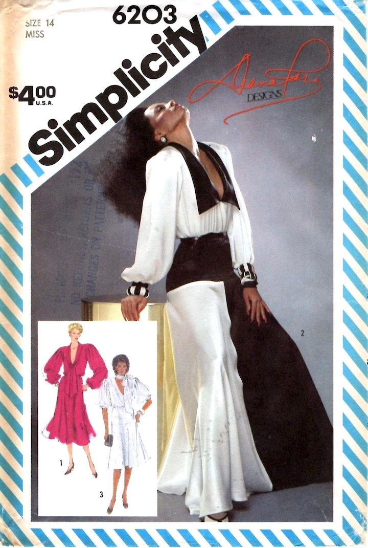 1980s Diana Ross Designs pattern - Simplicity 6203