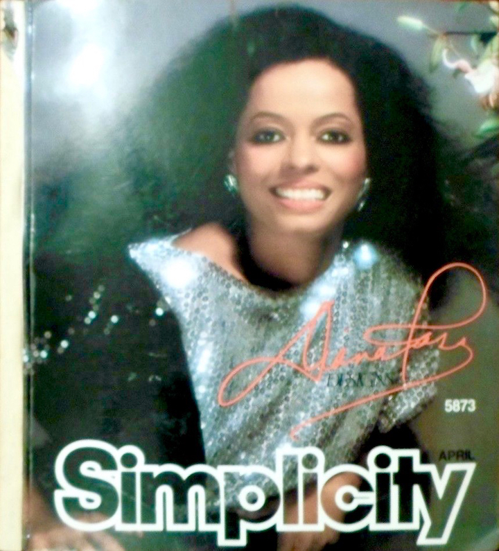 Simplicity 5873 by Diana Ross - Simplicity April 1983