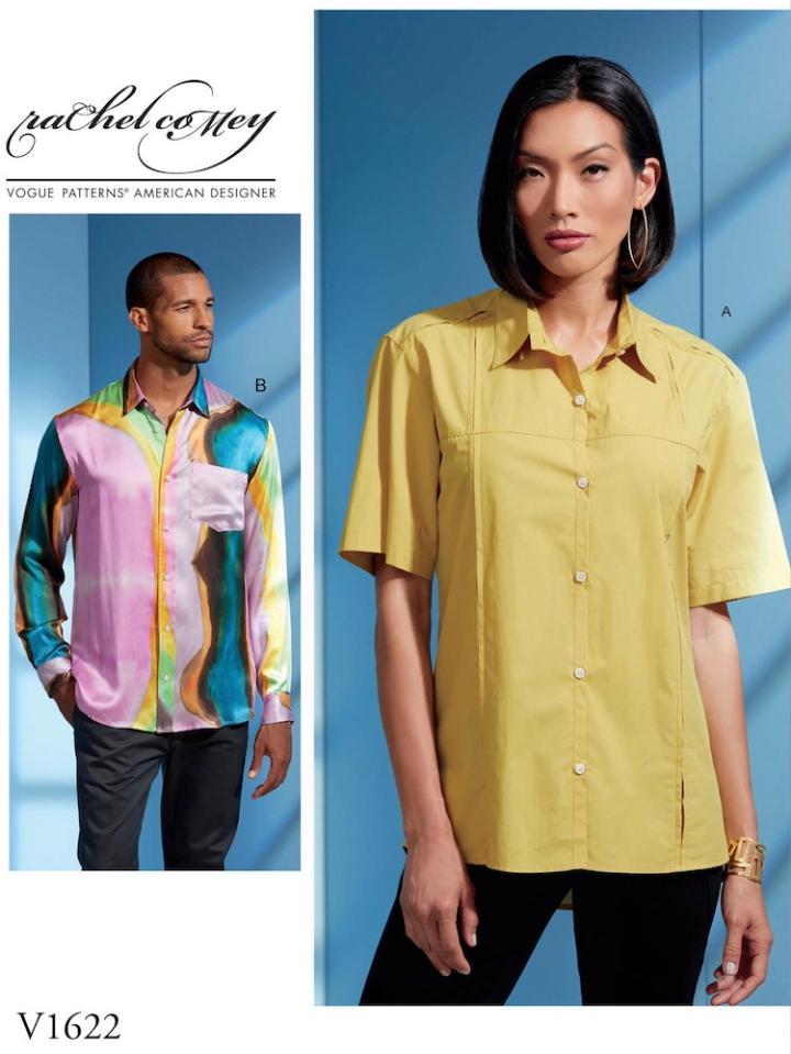 V1622 Rachel Comey unisex shirt pattern