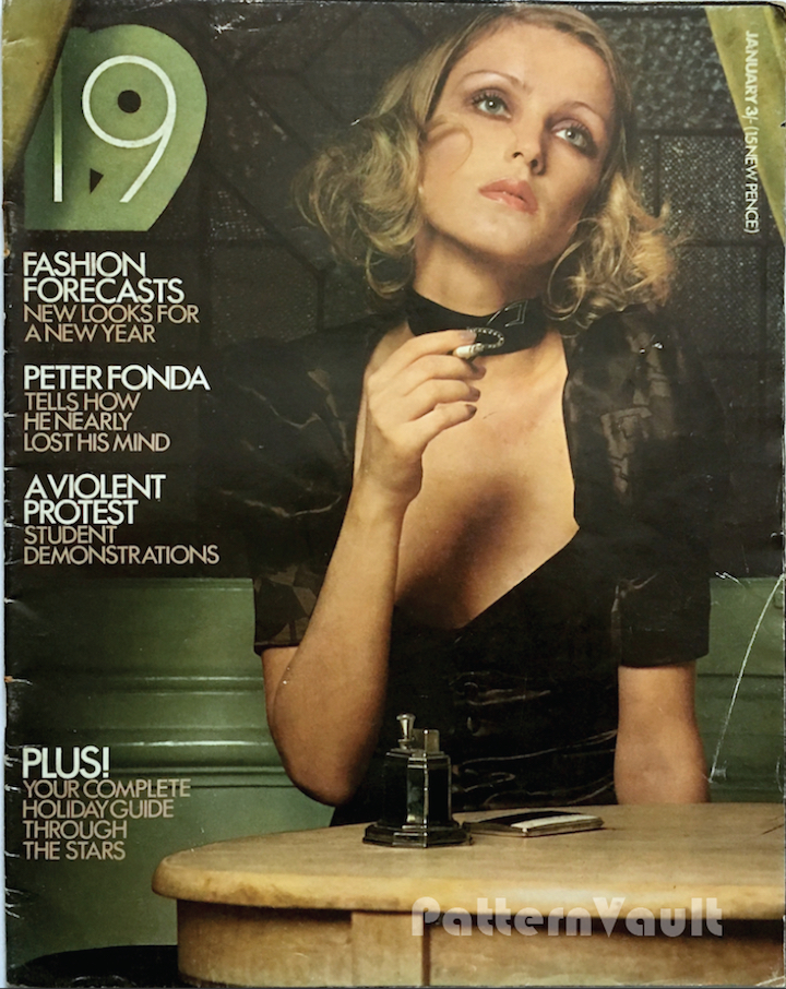 1970s Biba cover - 19 magazine, January 1971 photographed by David Tack