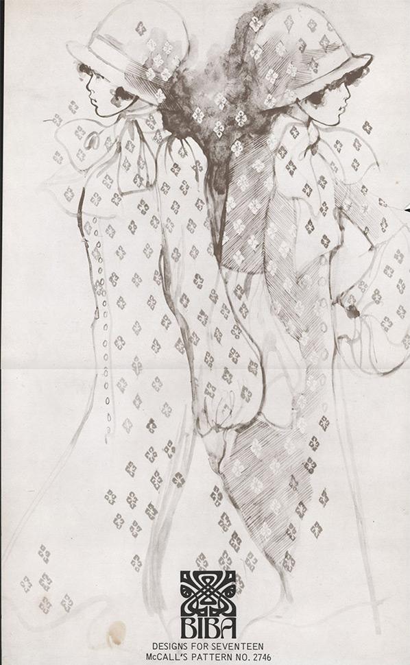 Biba designs for Seventeen: McCall's Pattern no. 2746
