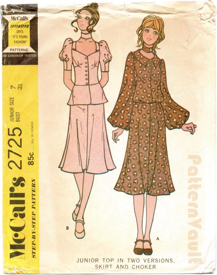 1970s Biba pattern McCall's 2725
