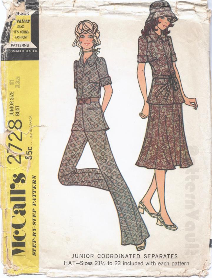 1970s Biba pattern McCall's 2728