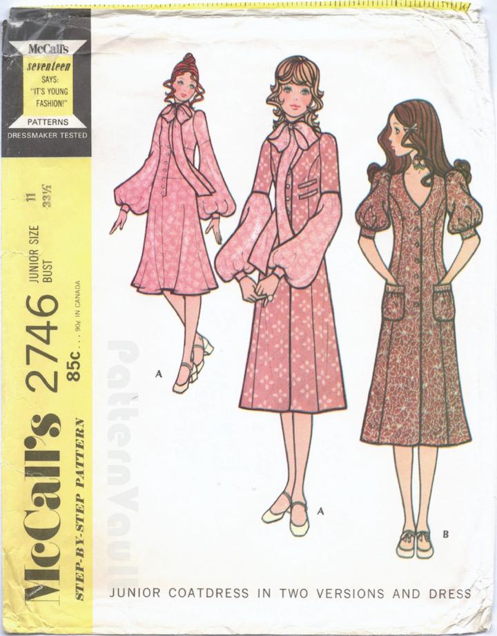 1970s Biba pattern McCall's 2746