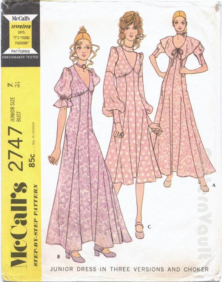 1970s Biba pattern McCall's 2747