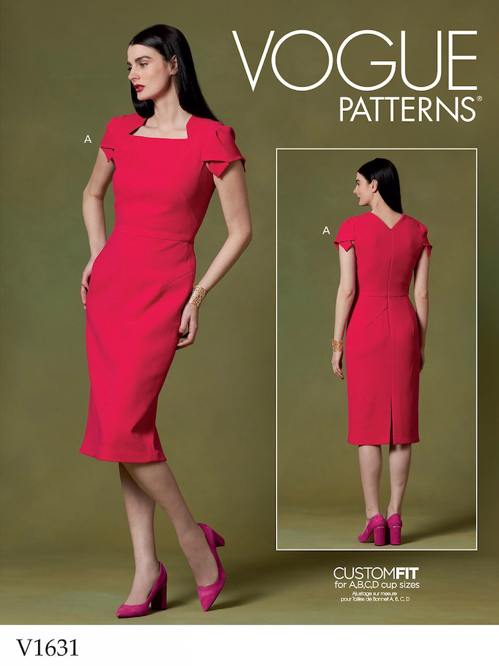 Roland Mouret Royston dress knockoff pattern V1631