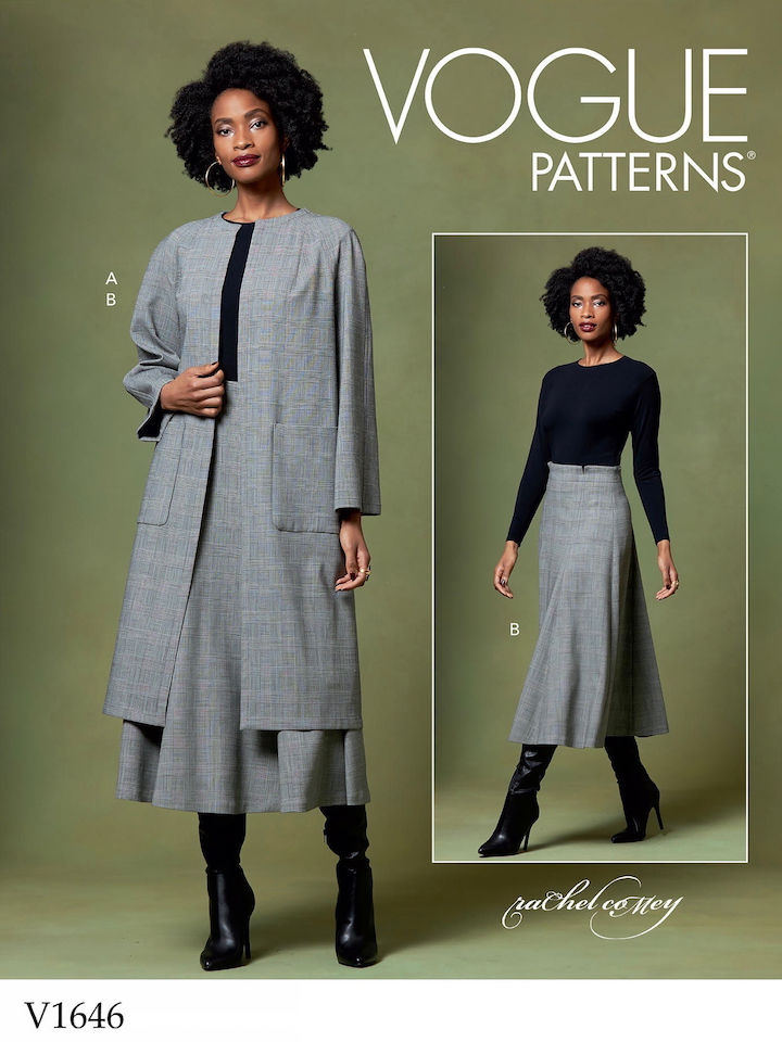 Rachel Comey coat and skirt pattern V1646