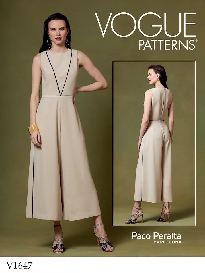 Paco Peralta jumpsuit pattern V1647