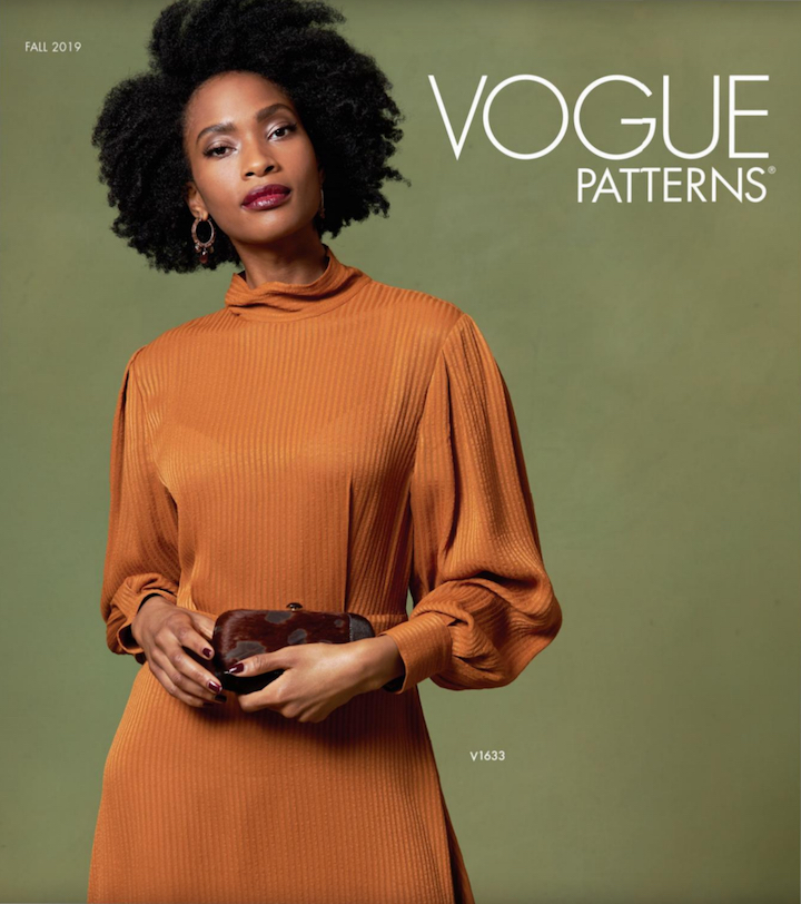Vogue Patterns Fall 2019 lookbook cover with V1633 dress