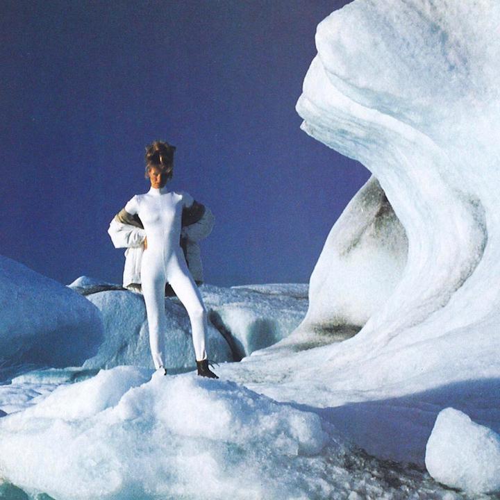 Vogue 7849 unitard worn in Iceland by Karen Mulder