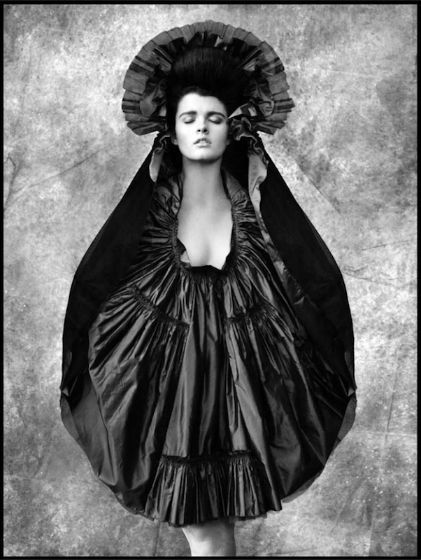 Isabel Toledo, Poncho skirt, 1991, photographed by Ruven Afanador