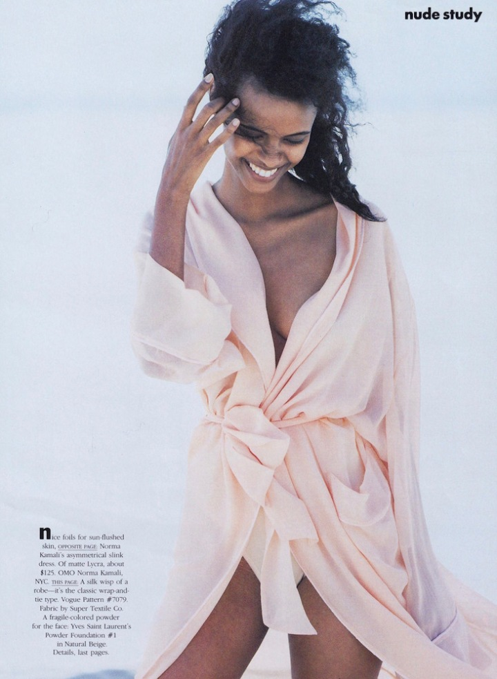 "Peter Lindbergh's ""Nude Study"" - Vogue pattern 7079 Men's robe (1987) in silk chiffon"