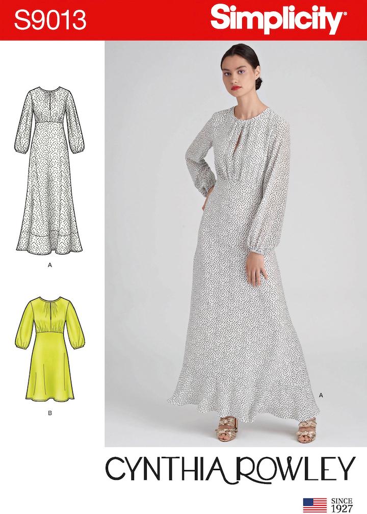 Cynthia Rowley Sea Breeze dress pattern - Simplicity 9013