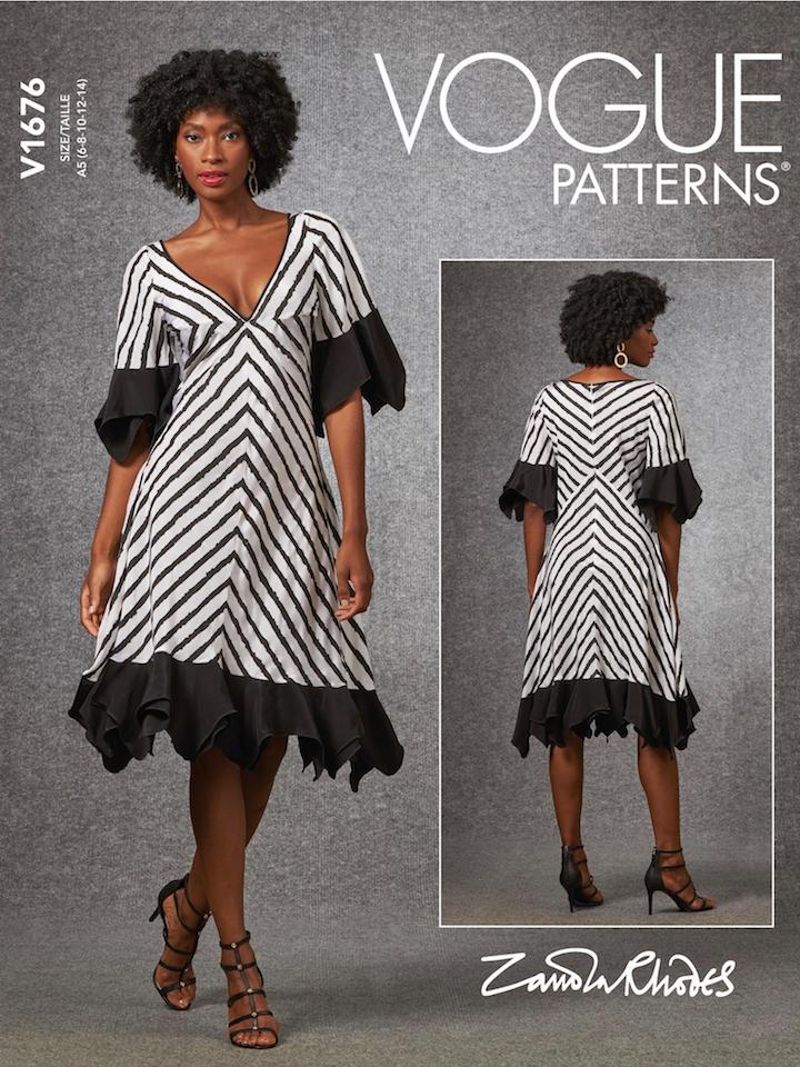 Zandra Rhodes dress pattern V1676