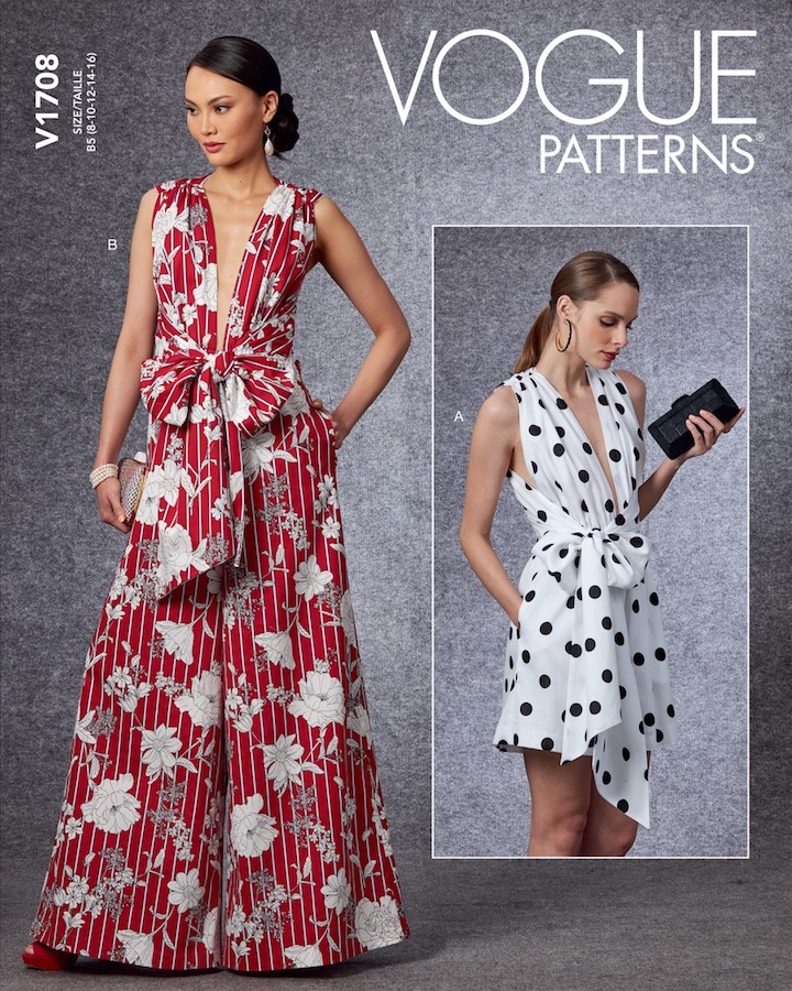 Vogue 1708 jumpsuit or romper pattern after Oscar de la Renta (2020)