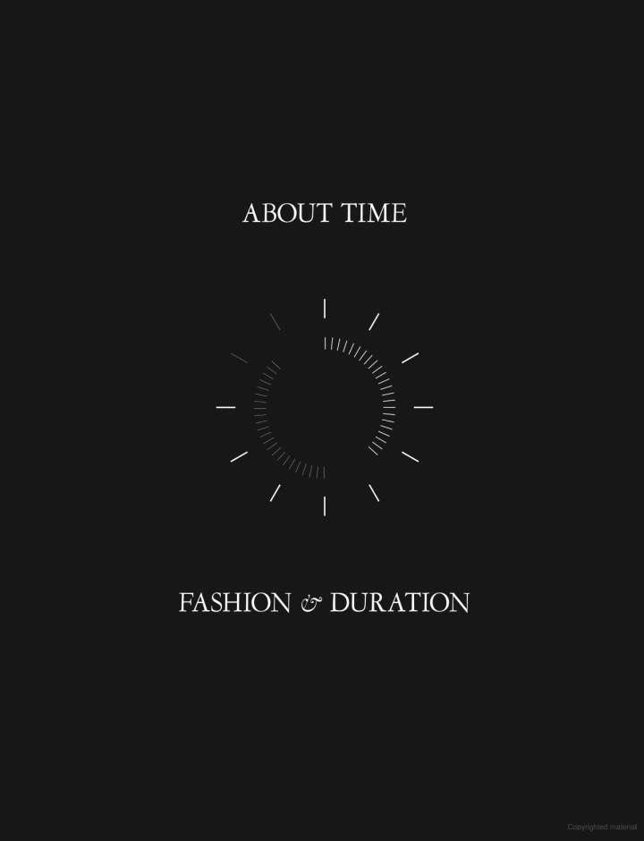 Book cover for About Time: Fashion & Duration by Andrew Bolton, 2020
