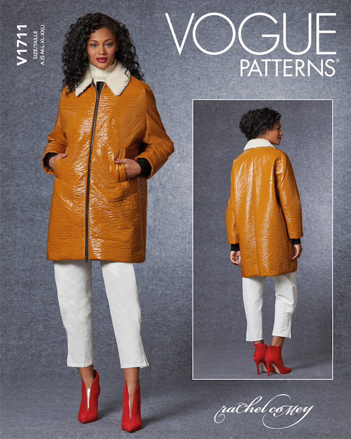 Rachel Comey Jaunt coat pattern Vogue 1711 (2020)