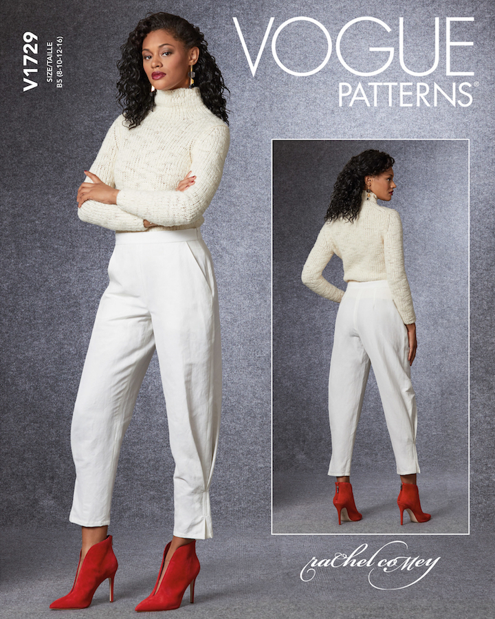 Rachel Comey Alter pants pattern Vogue 1729 (2020)