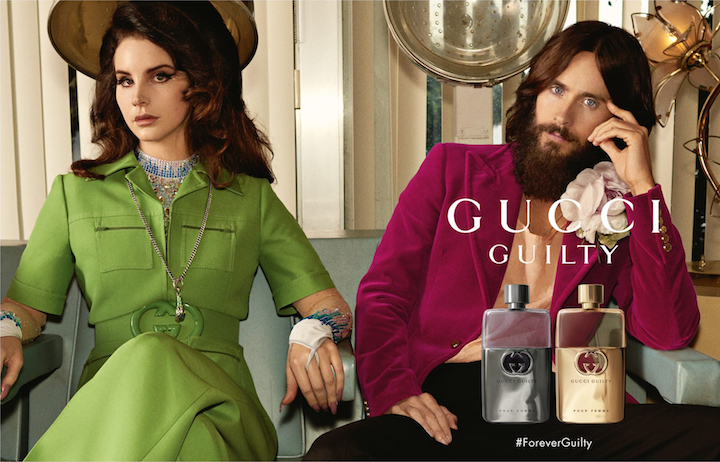 Lana Del Rey and Jared Leto in the Gucci Guilty fragrance campaign, 2019