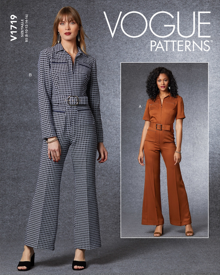 Vogue 1719 jumpsuit pattern after Gucci (2020)