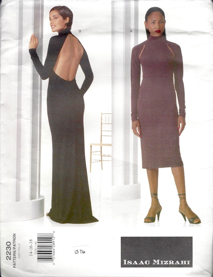 1990s Isaac Mizahi cocktail or evening dress pattern Vogue 2230 - LazyGreyCollectibles on Etsy