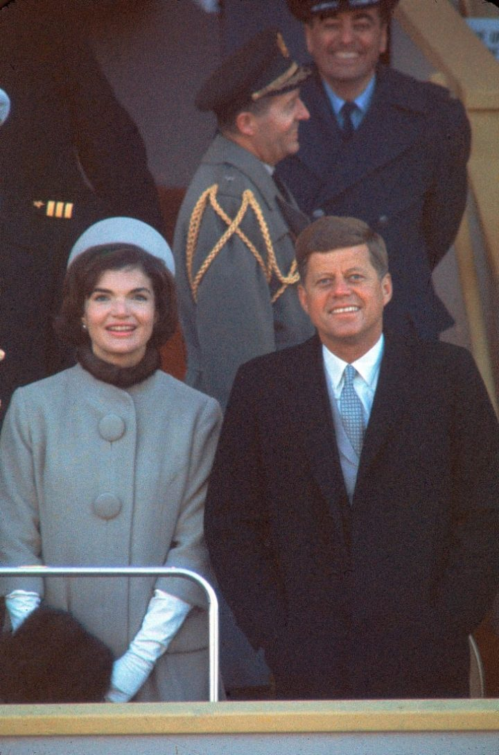 President Kennedy with First Lady Jacqueline Kennedy at his inauguration in January, 1961