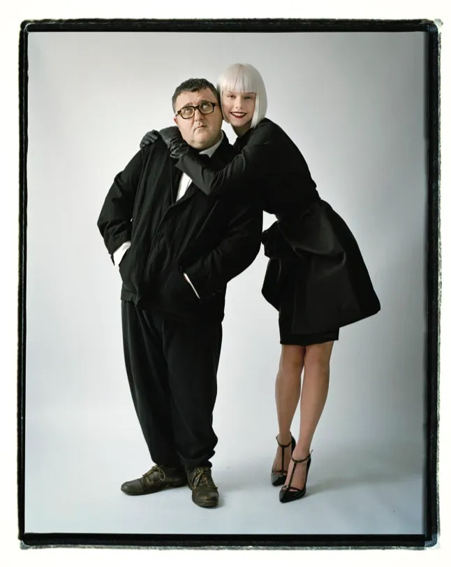 Tim Walker. Alber Elbaz with model in Lanvin, 2009
