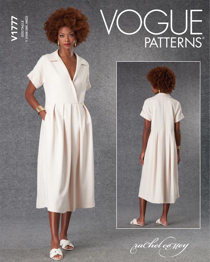 V1777 Tempo dress pattern by Rachel Comey (2021)