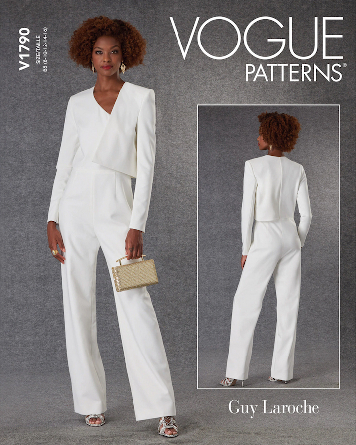V1790 jumpsuit pattern by Richard René for Guy Laroche (2021)