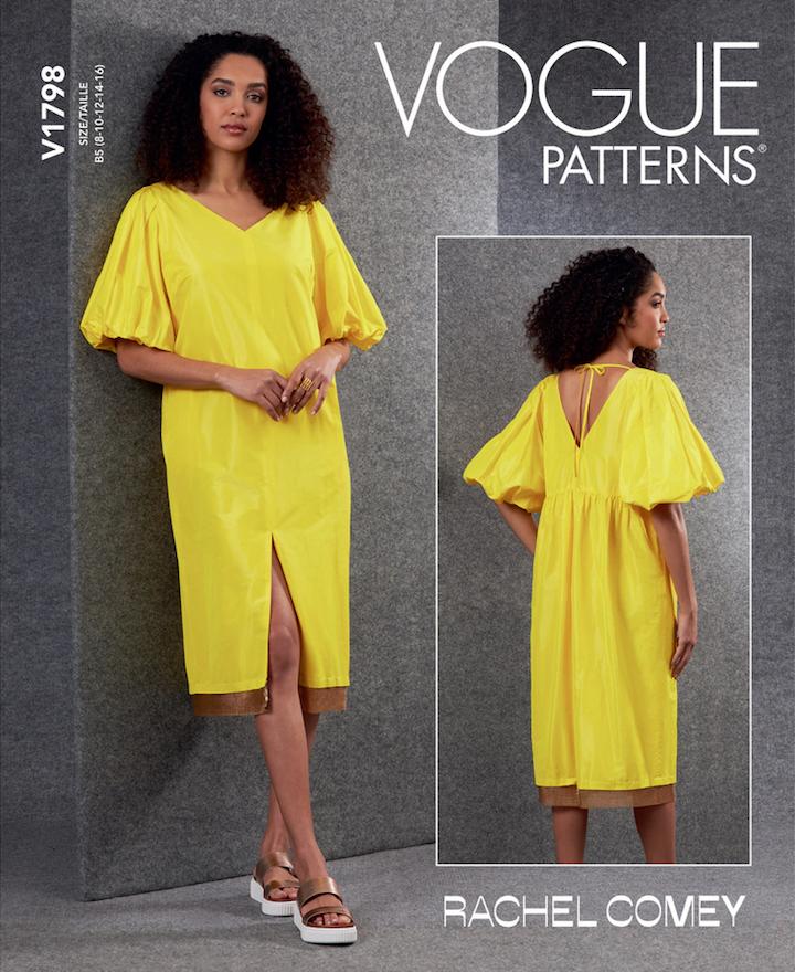 V1798 Lurie dress pattern by Rachel Comey (2021)